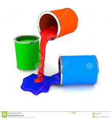 rgb color paint can over white royalty free stock photos image