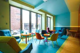 Armchair Blue Design Ideas Velvet Tufted Armchairs For Cheerful Bistro Design Idea