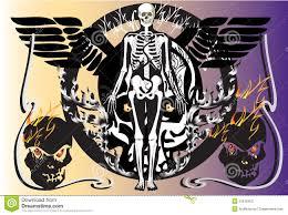 bone skull fire eagle stock illustration image of skull 31818400