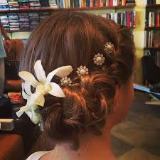 flower girl hair flowers on flowers for this flower girl braids twisted