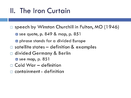 Winston Churchill Iron Curtain Speech Meaning The Cold War Begins I Review U2013 Wwii Conferences Tehran