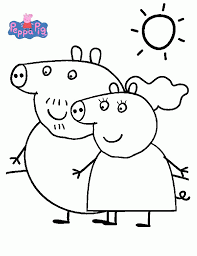 coloring pages peppa pig fablesfromthefriends com