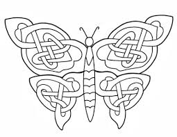 celtic butterfly design coloring page free printable coloring pages