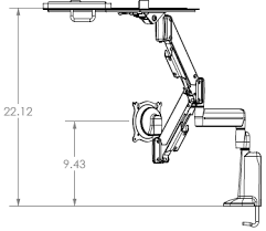 chief kgl220 height adjustable monitor laptop dual arm desk mount
