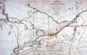 A Map Of Canada by Upper Canada Colony