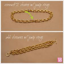 diy chains bracelet images Diy chain bracelet with studs and cord jpg