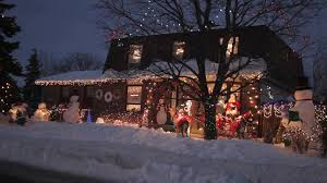 canadian christmas house with a large display of christmas lights