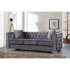 grey velvet chesterfield sofa wayfair