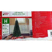 6 ft non lit wesley pine tree home kitchen