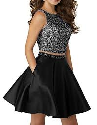 gmar beaded two piece homecoming dresses open back satin prom