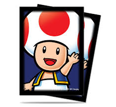 super mario toad deck protector sleeves 65ct ultra pro