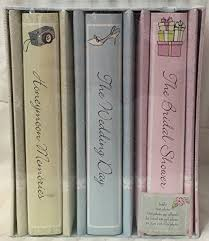 bridal shower photo album wedding memories 3 wedding album set