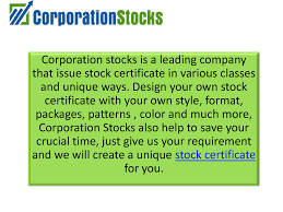 downloadable corporate stock certificate templates authorstream