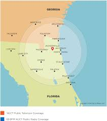 Jacksonville Florida Map Coverage Map Wjct