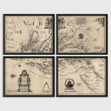 map of maryland to print maryland and virginia antique map print set 1673 blue monocle