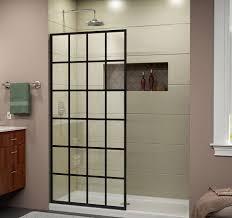 Industrial Shower Door Dreamline French Linea Toulon Frameless Shower Door 34 In X 72 In