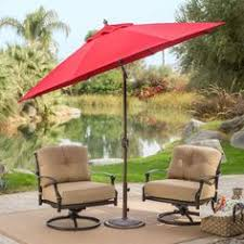 Tilting Patio Umbrella by 9 Ft Patio Umbrella In Terracotta With Metal Pole And Tilt