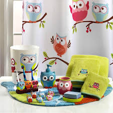 knight hooty owl shower curtain and bath accessories