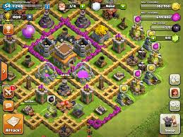 layout vila nivel 9 clash of clans clash of clans town hall level 8 setup clash of clans pinterest