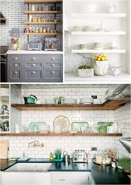 open shelf kitchen ideas kitchen open shelves in kitchen ideas yay or nay cabinets diy no