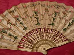 painted silk fan mosely in paris neoclassical decor belle