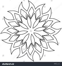 outline floral decoration vector ornament stock vector 37138696