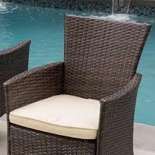 Wicker Patio Furniture Amazon Com Clementine Outdoor Multibrown Pe Wicker Dining Chairs