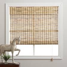 arlo blinds rustique bamboo 74 inch long roman shade by arlo