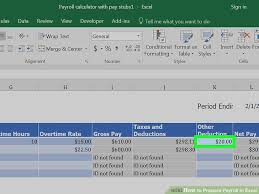 teach me excel how to prepare payroll in excel with pictures wikihow
