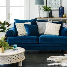 Blue Velvet Chesterfield Sofa by Fabric Lounges Upholstery