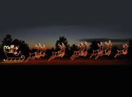 animated led santa sleigh 9 reindeer display 46 w