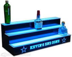 Dallas Cowboys Home Decor Lighted Bar Shelves 3 Tiers Custom Options Free Shipping