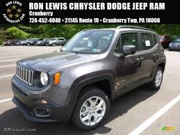 gray jeep renegade interior 2016 granite crystal metallic jeep renegade latitude 4x4