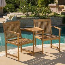 Acacia Wood Outdoor Furniture by Outdoor Wood Chairs Adjoining Table Set Natural Deck Furniture