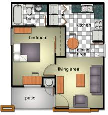 Floor Plan Of A Living Room Bobcat Village Department Of Housing And Residential Life