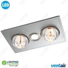 white myka 2 bathroom u00273 in 1 u0027 heat led light and exhaust fan