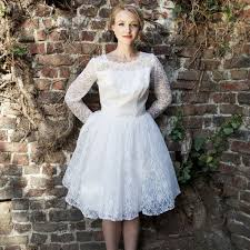 stylish collections of short lace vintage wedding dresses cherry