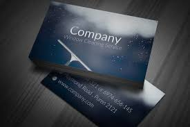 Business Card Design Psd File Free Download Stylish Window Cleaning Business Cards Design Available For Free