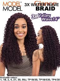 model model crochet hair model model glance 3x vallet wave crochet braid 14 inches