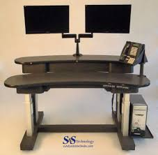 Adjustable Height Computer Desks by 2 Table Electric Adjustable Height Desk S U0026s Technology