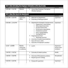 employee training plan template employee training schedule