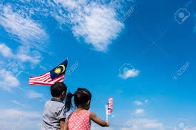 Maylasia Flag Unknown Kids Brother And Sister Waving The Malaysia Flag