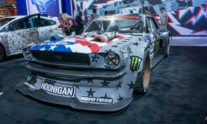 hoonigan mustang engine 2017 sema show wild and crazy autonxt