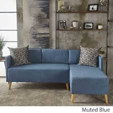 Modern Blue Sofa Blue Modern Contemporary Sofas Couches For Less Overstock