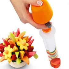 plastic skewers for fruit arrangements 6 pcs set fruit salad fruit skewer tools plastic fruit