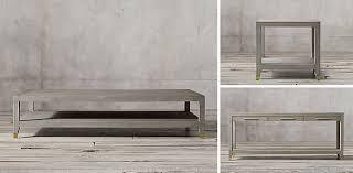 Shagreen Console Table by Graydon Shagreen Occasional Collection Grey Shagreen U0026 Brass Rh