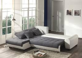 canap d angle convertible gris et blanc canapé d angle contemporain convertible en tissu coloris gris blanc