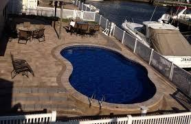 Backyard Leisure Pools by Metric Semi Inground Swimming Pool Backyard Leisure