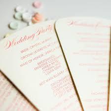 fan programs fan wedding programs chic shab design studio inc