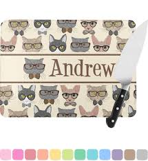 personalized glass cutting board cats rectangular glass cutting board personalized